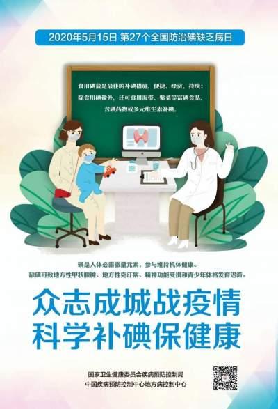 2020年防治碘缺乏病宣传片来了!